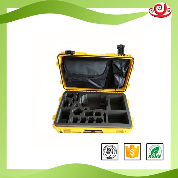 Tricases Shanghai factory shockproof waterproof PP hard big tool cases with die-cut foam tool case M2500 tricases factory oem odm waterproof hard plastic case profession trolley tool cases m2360