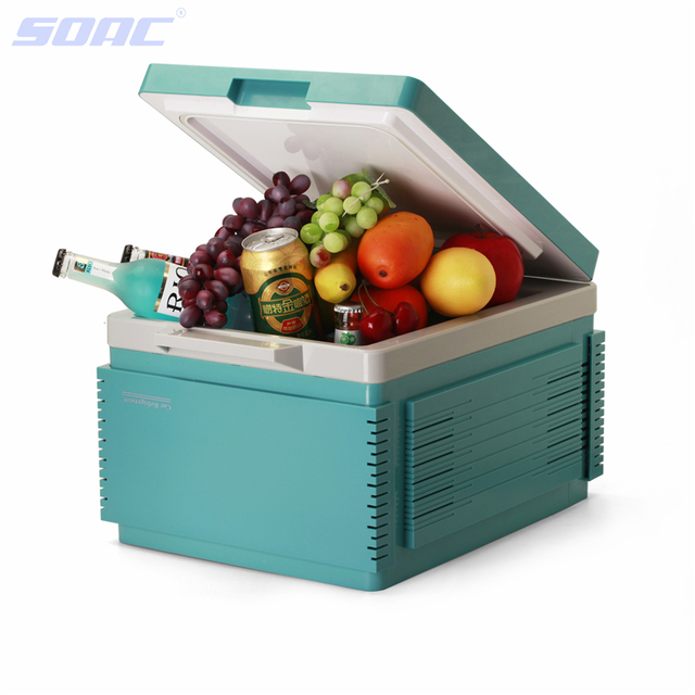 12L Car Styling Portable 12V Car Refrigerator Cooling and Heating Mini Fridge Dual-use Heating Cooler Box Freezer Household Blue
