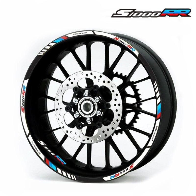 Высококачественные наклейки на колеса мотоцикла светоотражающие наклейки обода полосы 4 цвета для BMW S1000RR