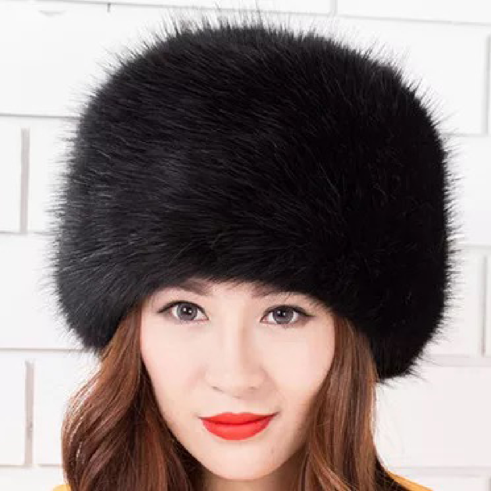 Image 2 - 2018 New Arrival Beanies Woman Hats For Winter White Black Party Hats Lady Warm Classic  Faux Fur Solid Female Skullies Hats-in Women's Skullies & Beanies from Apparel Accessories