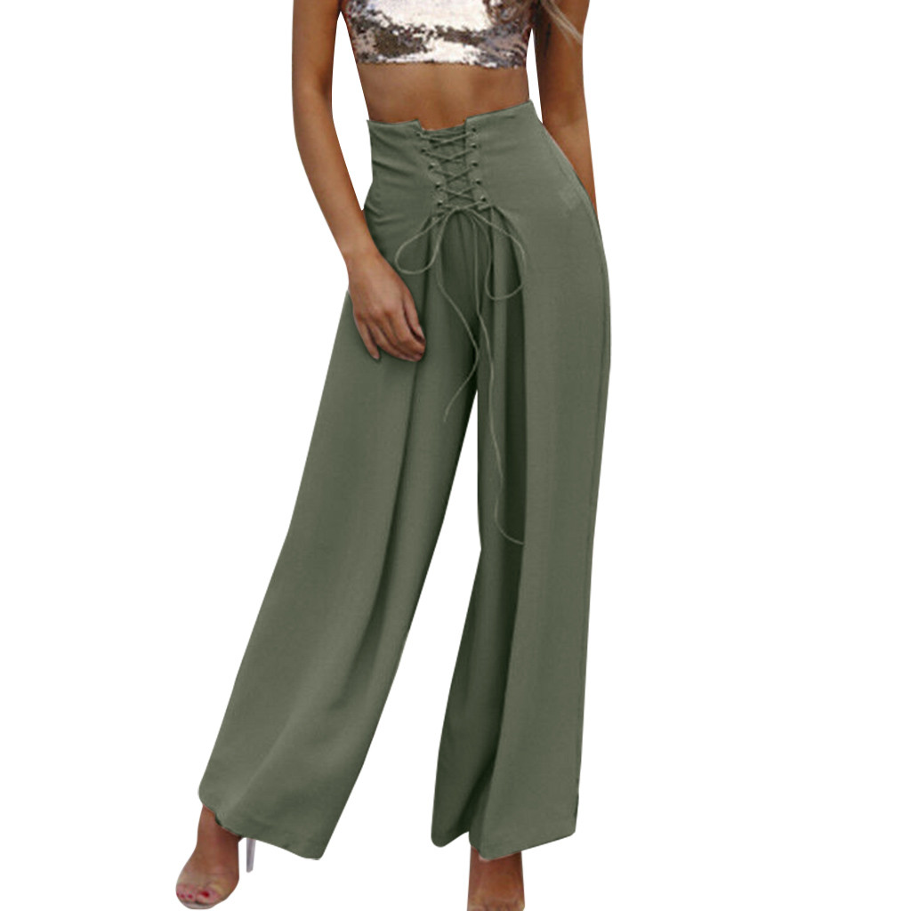 Sleeper #401 2019 NEW FASHION Women High Waist Wide Leg Culottes Pants Harem Baggy Loose Trousers For Girls Gift Free Shipping