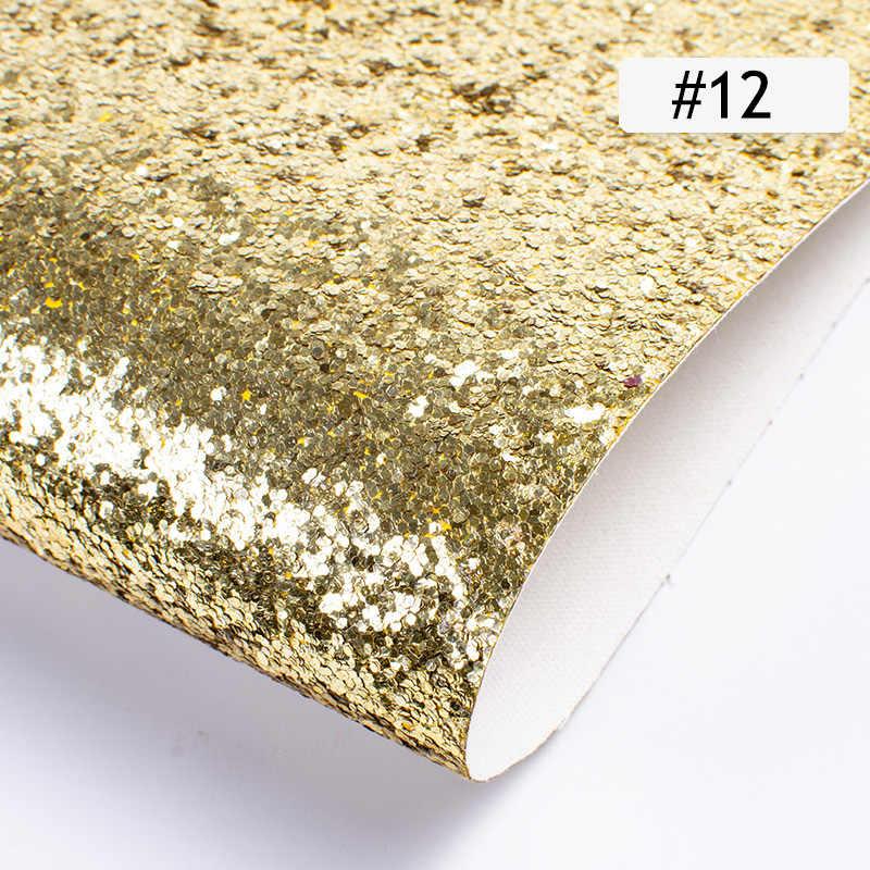 25cm * 34cm Pailletten Glitter PU faux leder stoff DIY Handgemachte Kleidung Nähen Zubehör Liefert