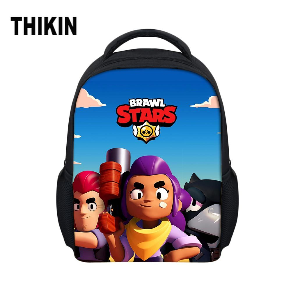 THIKIN Back To School Hot Game Brawl Stars Backpack Children Kids Book Back Pack Boys Girls Daily Cartoon Kindergarten Mochila(China)