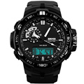 Skmei Big Dial Men Sport Watch Men Sports Wristwatch PU Strap Outdoor Waterproof Running Digital Watches