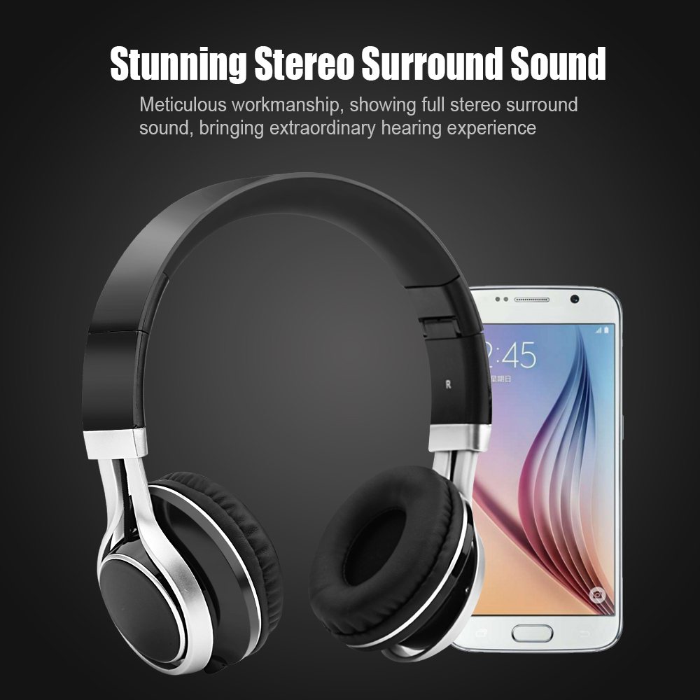 Foldable Bass Stereo Fidelity music headphones Headset Handsfree Headphones With Mic For iPhone PC wholesale Promotion