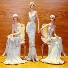 Красивые Креативные подарки для девочек, искусственные украшения для дома, миниатюрные Фигурки для девочек, свадебные украшения
