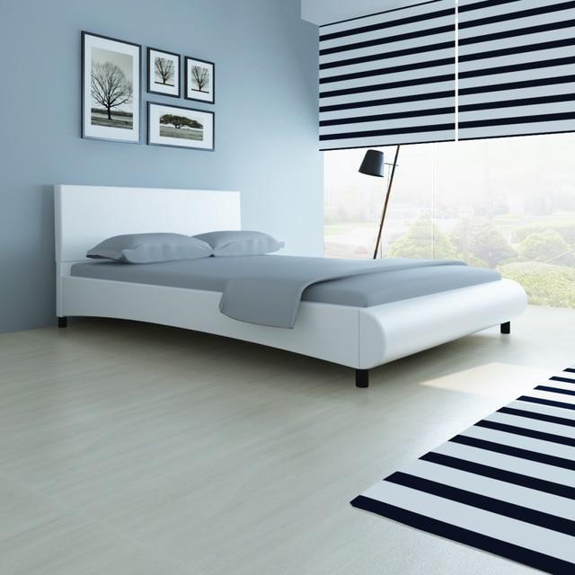 ikayaa design contemporain artificielle en cuir lit confort et