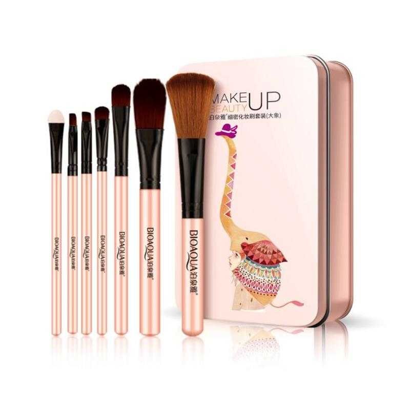 BIOAQUA Lady Makeup Brushes Set Face Cosmetic Beauty Eye Shadow Foundation Blush Brush Professioal Make Up Brush Tool(China)