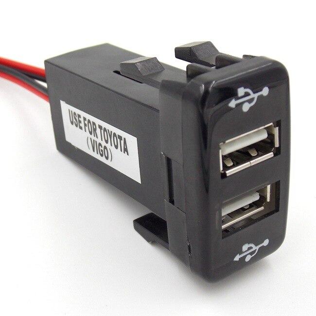 2 usb interface socket smart phone iphone ipad gps car charger usb audio input socket use for. Black Bedroom Furniture Sets. Home Design Ideas