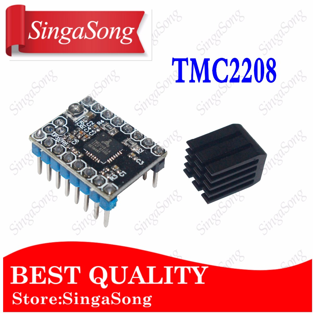3d printer parts 4pcs stepper motor driver heat sinks cooling block heatsink for tmc2100 lv8729 drv8825 drive modules 3D Printer Parts Stepstick TMC2208 Stepper Motor Driver Super Silent With New Heat Sinks Replace TMC2100