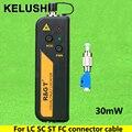 KELUSHI 30 mW Luz Vermelha Fonte de Mini Localizador Visual da Falha da Fibra Óptica Cable Tester LC/FC/SC/ST Adaptador de fibra óptica cabo de CATV