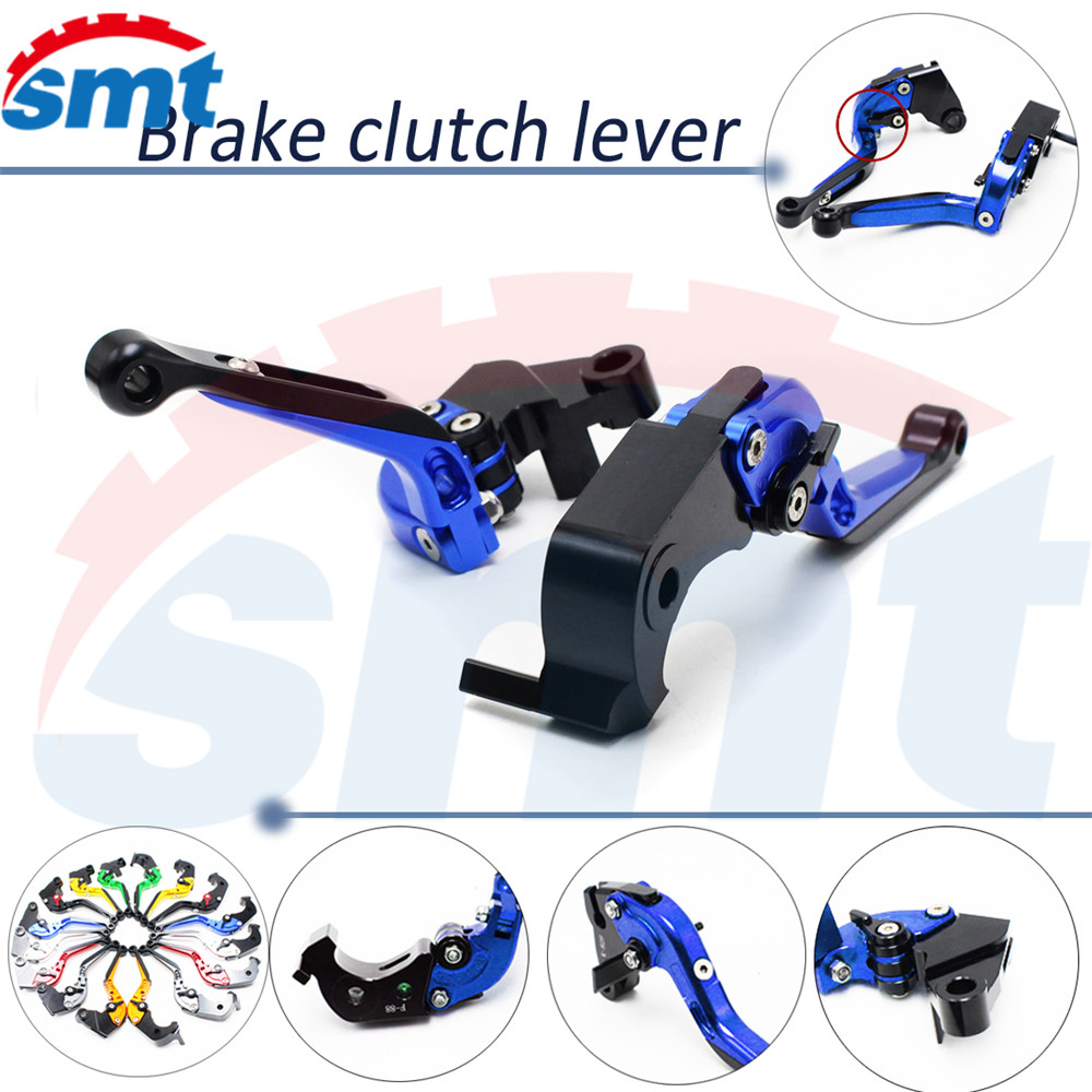 ФОТО motorcycle brake lever xj6 foldable extenable brake clutch levers blue For HONDA CB 1300/ABS 03 04 2005 2006 2007 2008 2009 2010