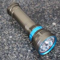 2016 New Arrival High Quality Waterproof 100m 18000Lm 9x XM L2 LED SCUBA Diving Flashlight Led Torch Lamp 6x1
