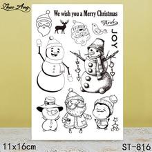 купить ZhuoAng Cartoon Snowman Transparent Silicone Stamp / Seal DIY Scrapbook / Album Decoration Transparent Seal / Seamless Stamp по цене 114.18 рублей