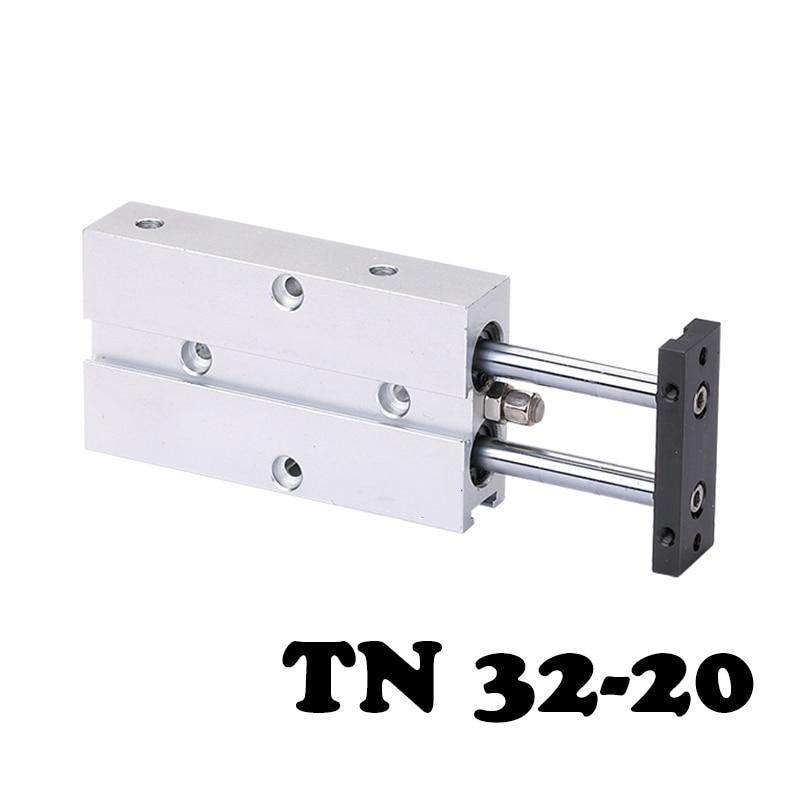 TN32-20 double axis double shaft double bar cylinder cylinder TN 32mm caliber 20mm stroke additional magnet pneumatic cylinder. поводок для собак happy house luxury цвет темно коричневый длина 125 см