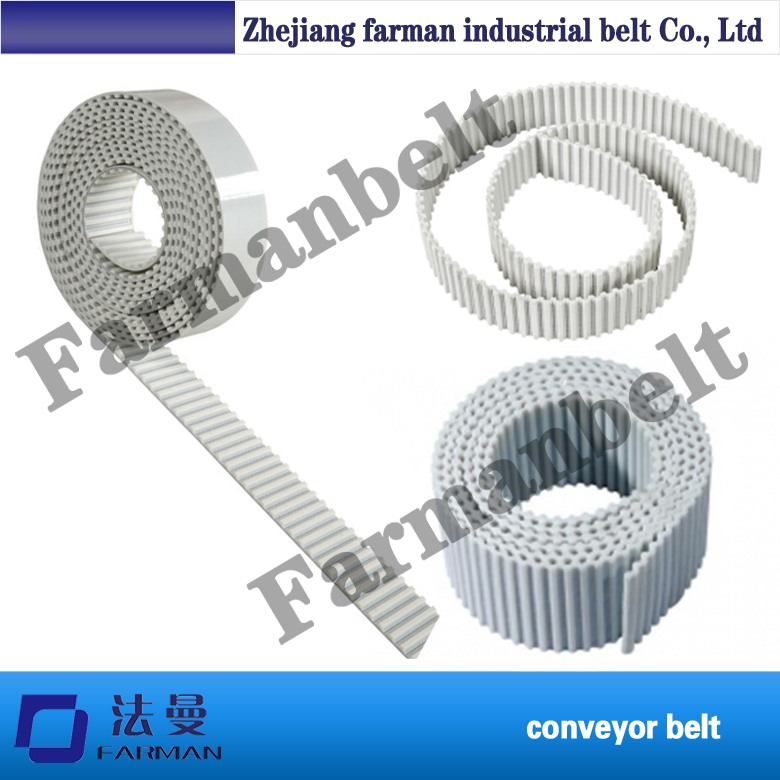 good quality pu timing belt with steel/kevlar cord t10 steel cord pu timing belt