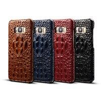 Nuevo para el Samsung Galaxy Note 8 del Grano del cocodrilo Genuino del Zurriago Caja Del Teléfono contraportada de cuero Piel De Vaca Real para Samsung nota8