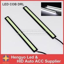 цена на Accessories Auto Lamp Daylight 14CM LED COB DRL Daytime Running Light Waterproof DC12V External Led Car Styling Light Source