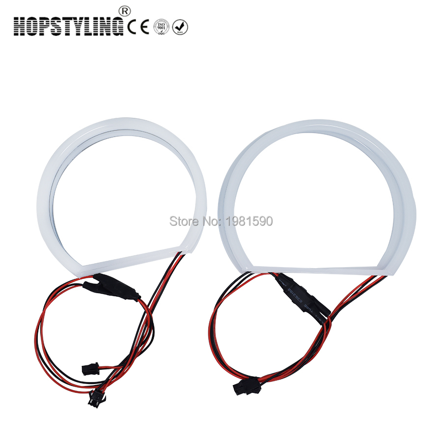 Hopstyling 1 pair 4x131mm Cotton angel eyes headlight For BMW E36 E38 E39 E46 projector auto halo rings headlight car-styling