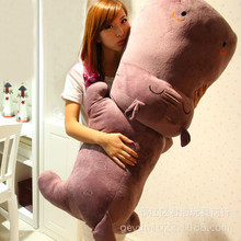 huge lovely plush purple hippo toy big cartoon hippo doll gift about 160cm