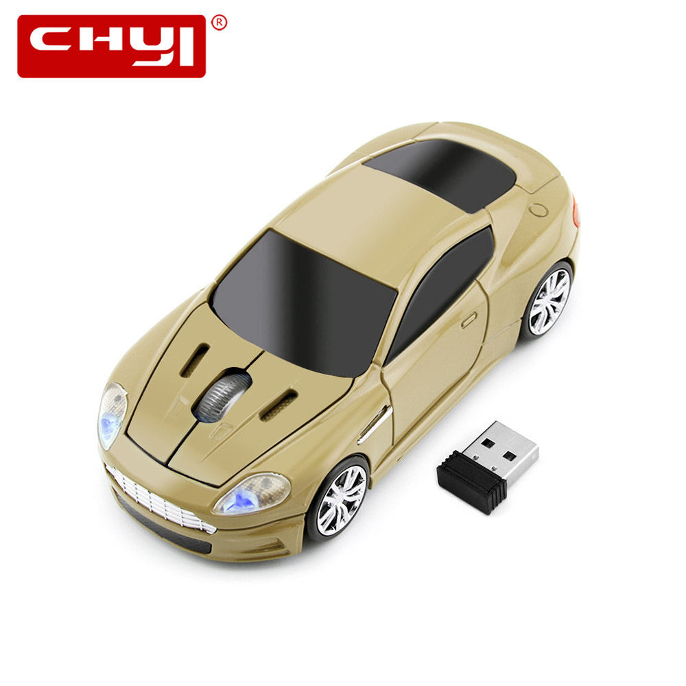 New Hot USB Optical Wireless Mouse 2.4G Receiver Super Sports Car Gaming Mause Mice Gamer for PC Laptop Computer Free Shipping