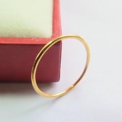 Nuevo fino puro 999 24K amarillo oro banda mujeres único anillo 1-1,5g tamaño US 6,5