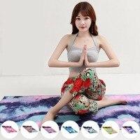 Độc đáo Tie Die In Ấn Hình Chữ Nhật Yoga Mat Non Slip Thể Dục Thể Thao Khăn Mền với Net Bag Sản Phẩm Giảm Béo top bán