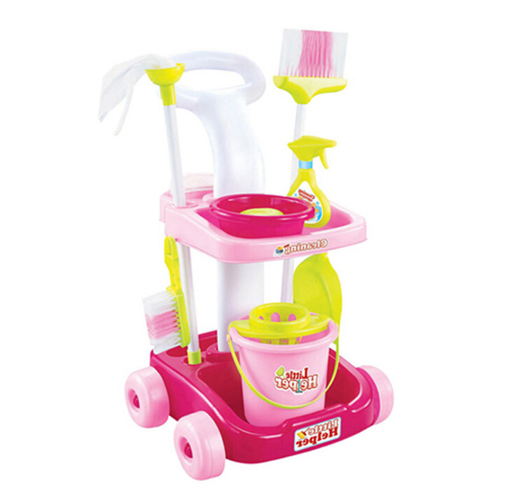 Delicate Doll House Cleaning Mop Broom Tools Pretend Play Furniture Toys Kit For Kids Dolls Accessories Play house Toys in Housekeeping Toys from Toys Hobbies