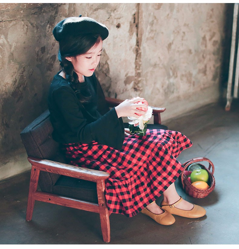 England style long skirts for baby teenage girls red plaid pleated skirt girl 2017 new spring autumn winter children clothing 5 6 7 8 9 10 11 12 13 14 15 16 years old little big teenage girls pleated skirts for kids (24)