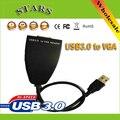 Новый Электронный 1080 P USB3.0 для VGA Внешнего Нескольких Мониторов Видео Графическая Карта Кабель Конвертер Адаптер, Оптовая Бесплатная Доставка