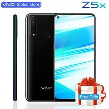 Оригинальный мобильный телефон vivo Z5x celular 6,53 «экран 6G 128G Восьмиядерный процессор Snapdragon 710 Android 9 5000 mAh большой аккумулятор смартфон