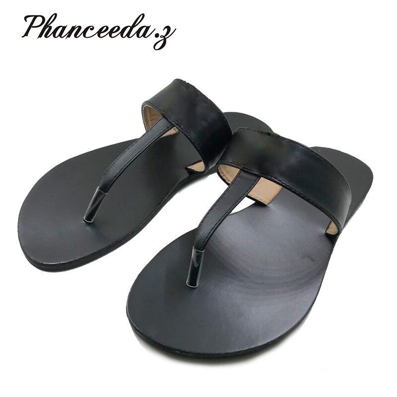 Nuevos zapatos casuales 2018 sandalias de verano estilo de moda chancletas de calidad T pisos sandalias sólidas tamaño 6-10