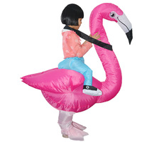 2019 New Arrival Inflatable Flamingo Costume Children Party Halloween Costumes Birds Inflatable Mascot Cosplay Clothing for Kids