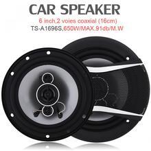 2018 new 2pcs 6 Inch 650W Car HiFi Coaxial Speaker auto sound speaker rubber surround car audio Black