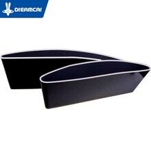 DREAMCAR 2pcs Universal Car Storage Box Plastic Organizer Car Seat Pocket Catcher Interior Stowing Tidying Auto Storage Box Seat
