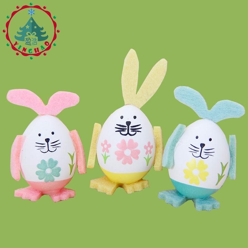 inhoo 9pcs Easter Eggs Rabbit Gift Desktop Ornament Easter Decor - Feestversiering en feestartikelen - Foto 3