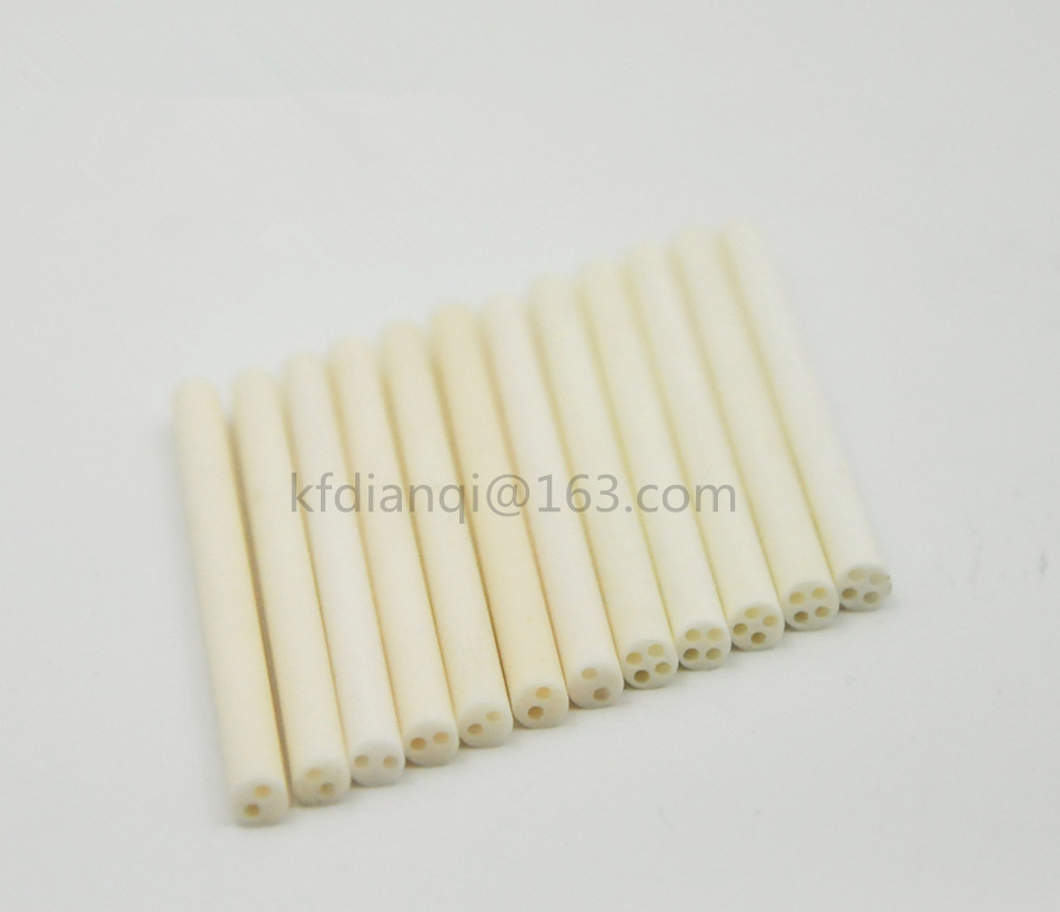 OD*ID=2*0.5mm / 2 Bores High Purity 99.3% Alumina Advanced Ceramic Insulator for Thermocouple Thermistor and RTD's Sight Tube