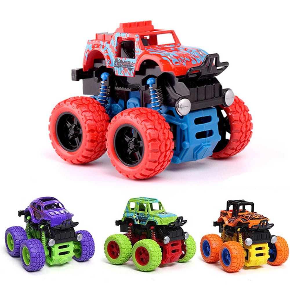 Mini Stunt Car 360 Degree Flip Four-Wheel-Drive Inertial Pull Back Cars Toys For Kids Gifts