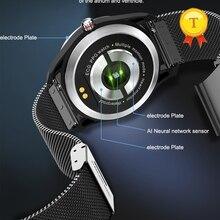 """2019 חדש hr bp ניטור כושר להקת PPG אק""""ג smart watch עם א. ק. ג תצוגת קצב לב צג לחץ דם"""