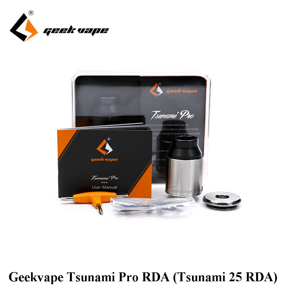 original GeekVape tsunami 25 RDA atomizer Tsunami Pro RDA DIY ecig tank with velocity style deck cloud vapor good flavor eleaf coral rda atomizer for diy