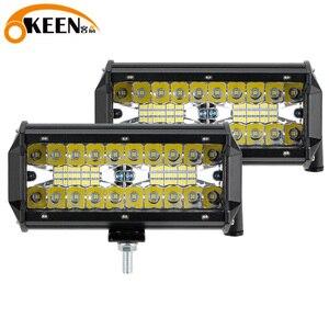 Image 1 - OKEEN LED Light Bar 7Inch Spot Flood Combo Off Road Lights 12V 120W LED Driving Fog Work Light for Jeep Trucks ATV Buggy UTV SUV