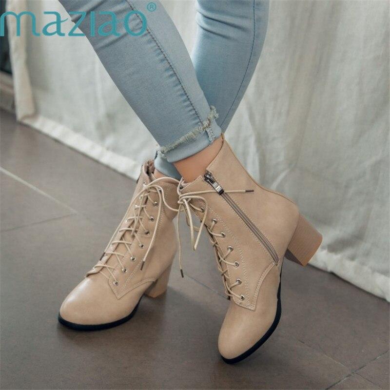 Новые модные пикантные женские ботильоны на шнуровке, на среднем каблуке, с острым носком, сезон осень-зима, зимние сапоги, женская обувь, Об...