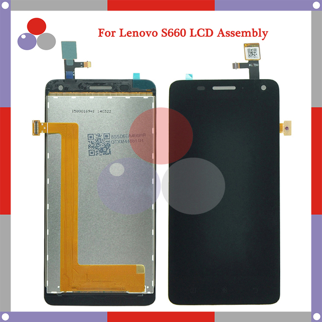 Highest quality For lenovo S660 LCD Screen Display + Touch Screen Digitizer Assembly Free Shipping