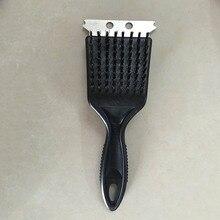 Портативная Глубокая очистка стальная щетка пластиковая ручка очиститель барбекю щетка аксессуары для барбекю Кухонные гаджеты