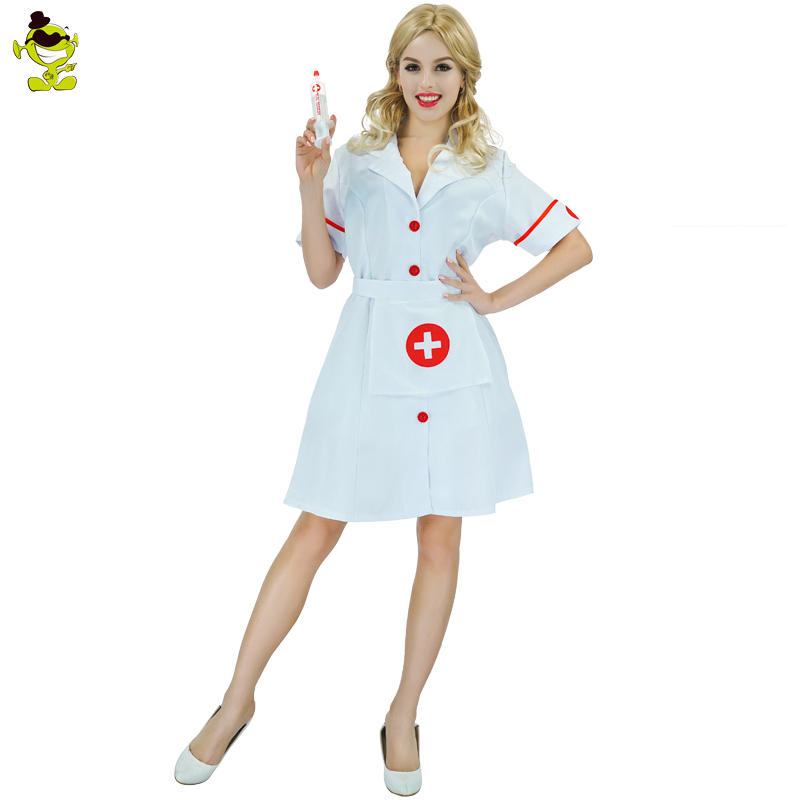 Sexy Womens Nurse Costumes Fancy Dress White Dress Costumes Doctor Costume For Womens Nurse Halloween Party Costumes