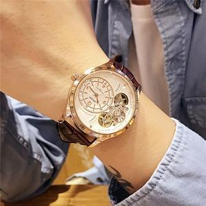 Image 1 - MEGIR Original Men Watch Top Brand Luxury Quartz Watches Relogio Masculino Leather Military Watch Clock Men Erkek Kol Saati 2017