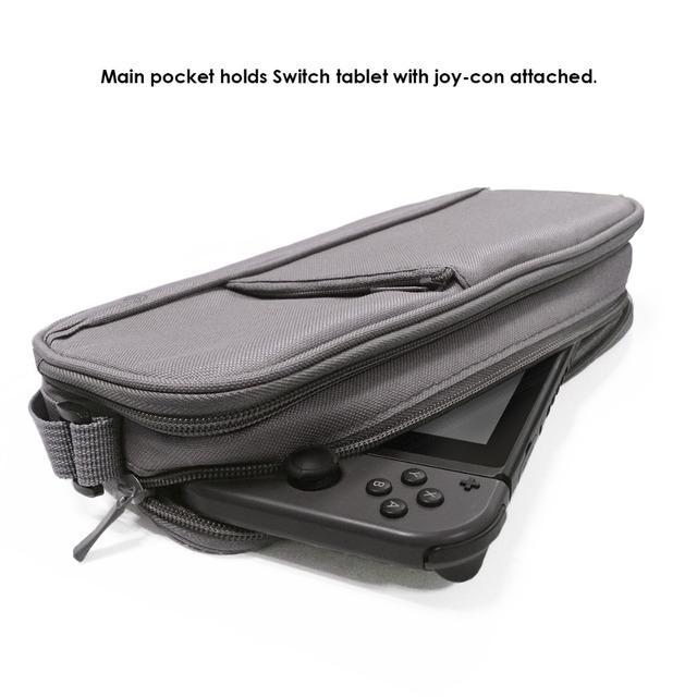 GameSir W60S106 Switch Backpack and Storage Bag, Travel Bag Holds Switch Console Games Joy-Cons and Accessories, Grey
