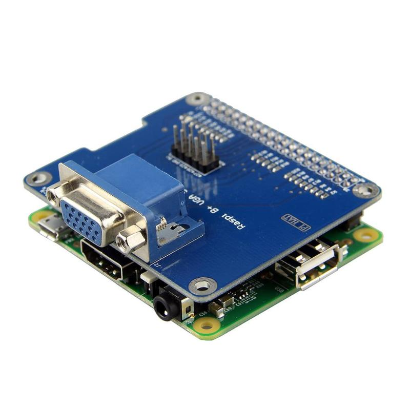 VGA Shield V2.0 Expansion Board for Raspberry Pi 3B/2B /B+/A+ Extend VGA Interface Via for GPIO Remain HDMI