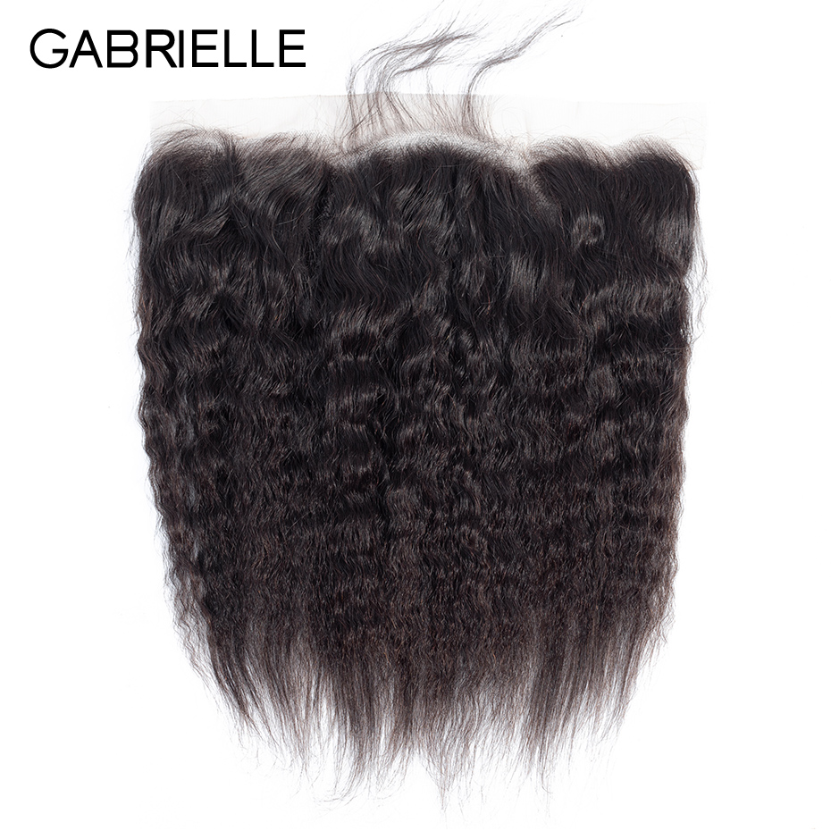 Gabrielle Weaves Lace-Frontal Human-Hair Brazilian Natural-Color Straight 8-22-Inches