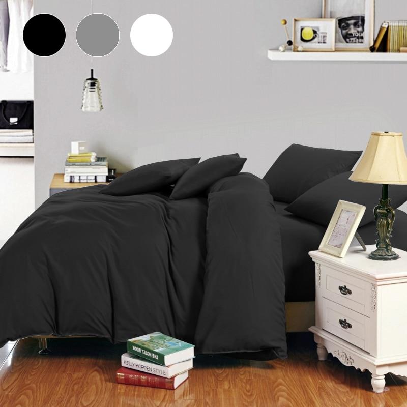 Russia Spain Bedding Set 22 Size Europe Queen Double King Single Duvet Cover Set  Bed Linen Set White Black Gray BedClothes